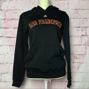MAJESTIC SAN FRANCISCO  Black Hoodie Sweatshirt